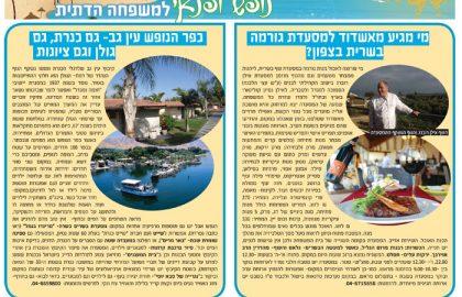 כפר הנופש עין גב – גם כנרת, גם גולן וגם ציונות