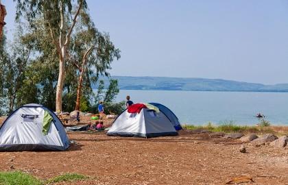 Sussita beach camping site